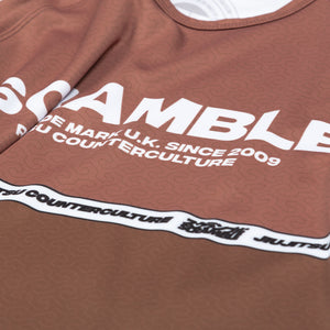 SCRAMBLE RANKED RASHGUARD V4 – BROWN