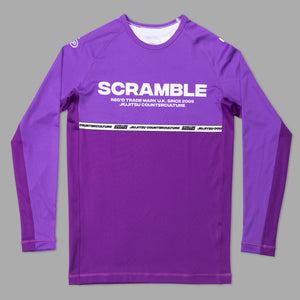 SCRAMBLE RANKED RASHGUARD V4 – PURPLE