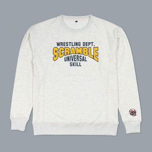 SCRAMBLE COLLEGIATE WRESTLING SWEATSHIRT – FRESHMAN GREY