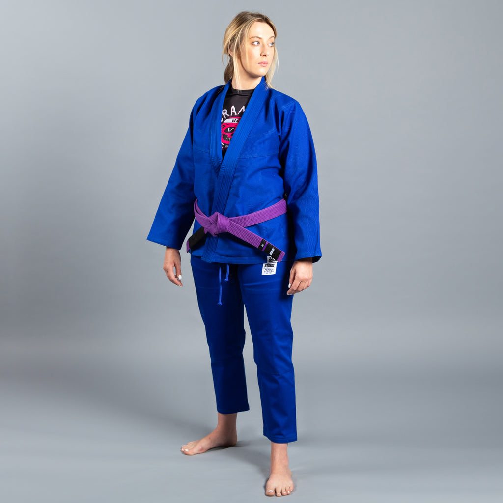 SCRAMBLE STANDARD ISSUE BJJ GI – FEMALE CUT – BLUE