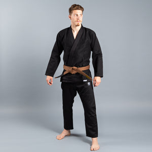 SCRAMBLE STANDARD ISSUE – SEMI CUSTOM BJJ GI – BLACK