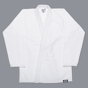 SCRAMBLE STANDARD ISSUE – SEMI CUSTOM BJJ GI – WHITE