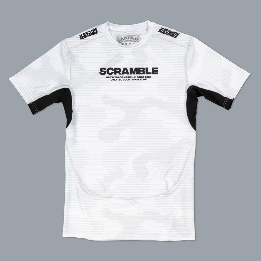 SCRAMBLE TACTIC RASHGUARD – WHITE