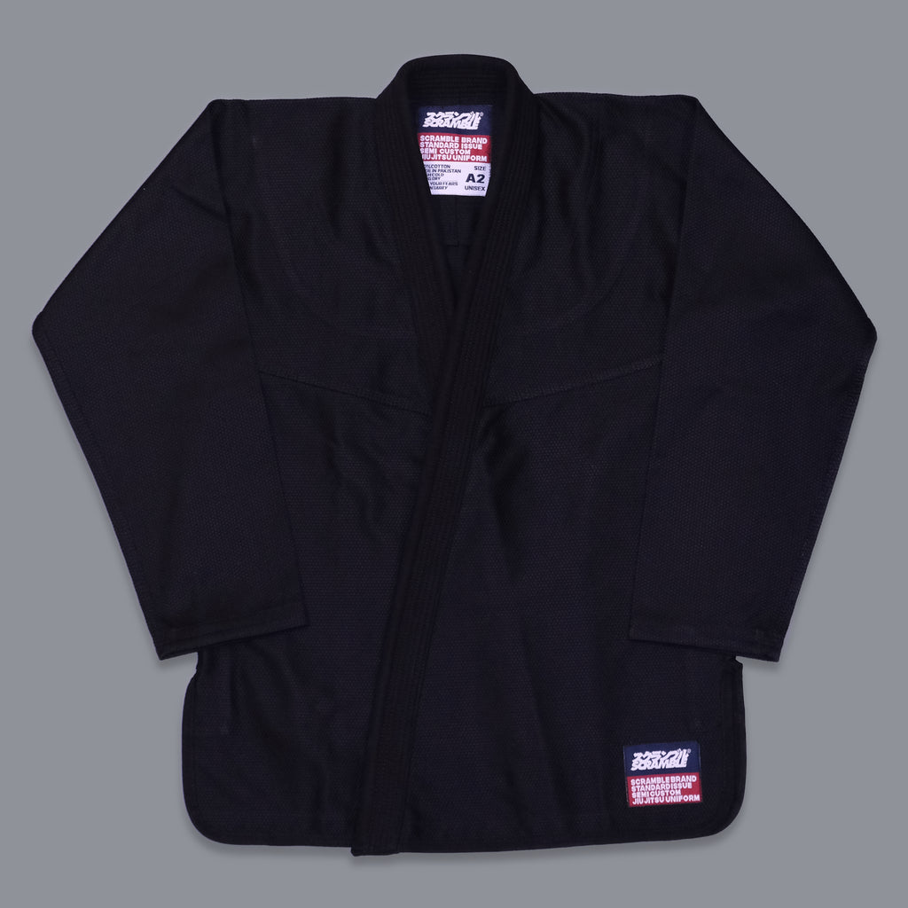 SCRAMBLE STANDARD ISSUE BJJ GI V3 2020 – FEMALE CUT – BLACK