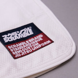 SCRAMBLE STANDARD ISSUE V3 2020 – SEMI CUSTOM BJJ GI – WHITE