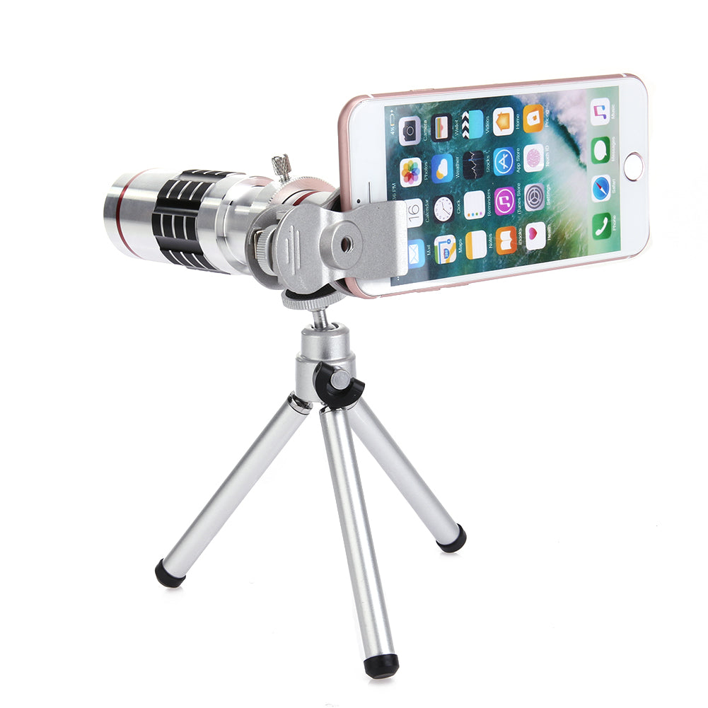 Universal 18X pocket Zoom & Telescope with Tripod Holder