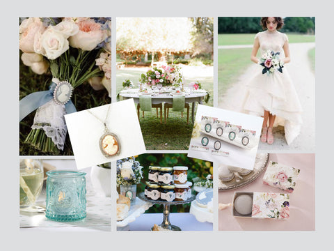 Grazie Gifts Cameo Garden Party theme