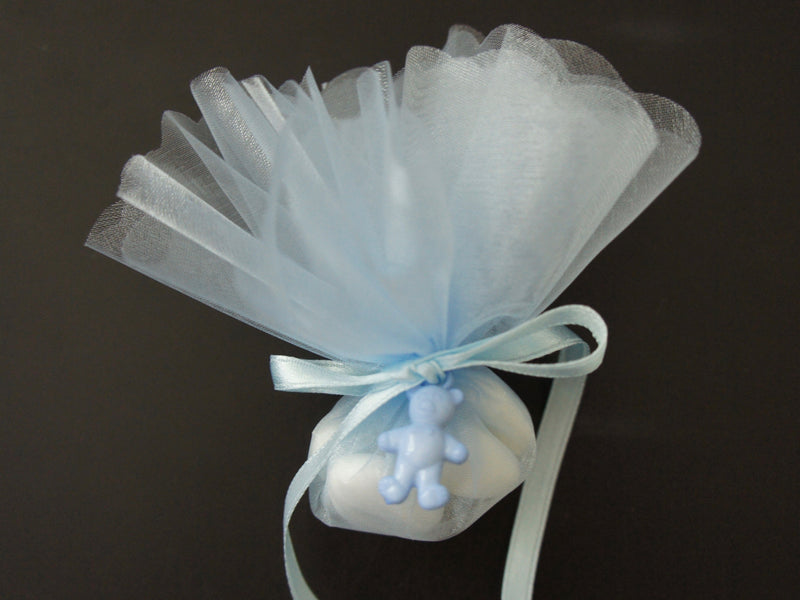 Confetti - Blue with Blue Teddy Bear Embellishment