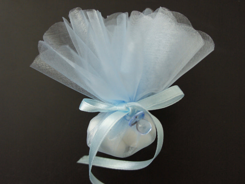 Confetti - Blue with Blue Pacifier Embellishment