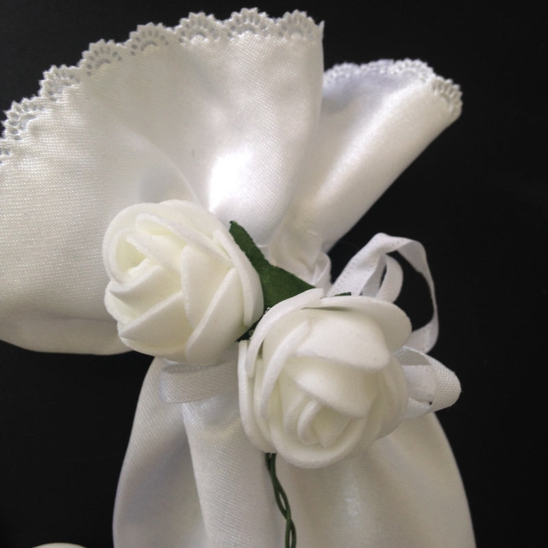 Confetti - White Satin Cone Shaped