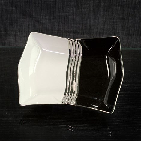 Black/White/Silver Deco Plate