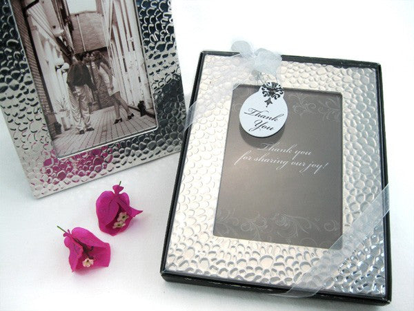 """Capture Elegance"" Photo Frame Favor in Brilliant Hammer Finish"