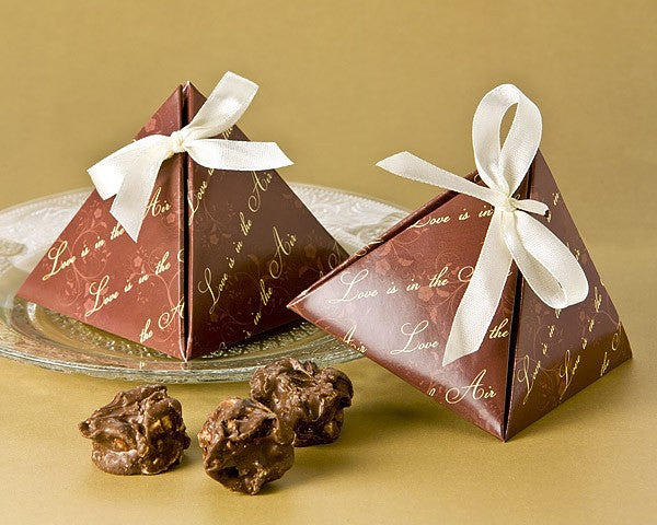 """Love is in the Air"" Pyramid Favor Box (24 Pack)"