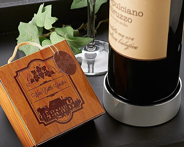 """Vineyard Estate"" Wine Bottle Coaster - CLEARANCE"