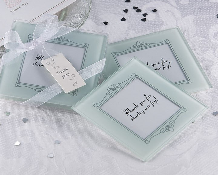 'Memories Forever' Frosted Glass Photo Coaster (Set of 2)