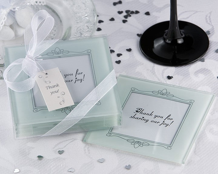 'Memories Forever' Frosted Glass Photo Coaster (Set of 4)