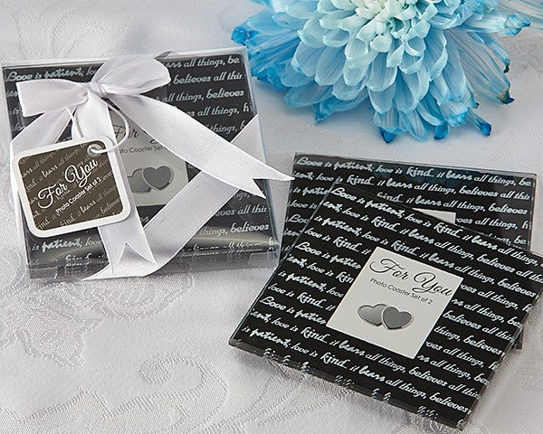 """Love Is…"" Photo Coasters (Set of 2)"