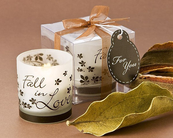 """Fall in Love"" Tea Light Candle Holder (Pack of 4)"
