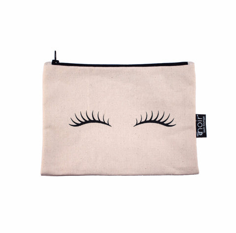 Lashes Makeup Bag (Natural)