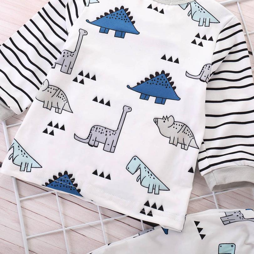 Infant Dino Striped Outfit - DinoGoods
