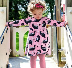 Pink Dinosaur Party Dress