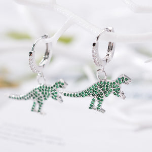 Sparkly Dino T-Rex Earrings - DinoGoods