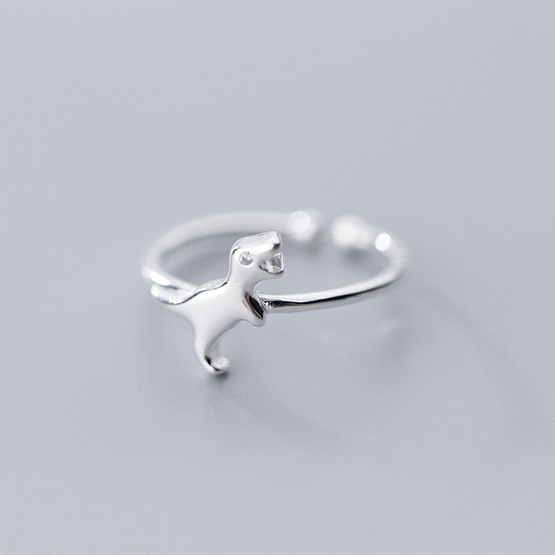 Sterling Silver T-Rex Ring