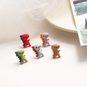 Cute Cartoon Dinosaur Stud Earrings