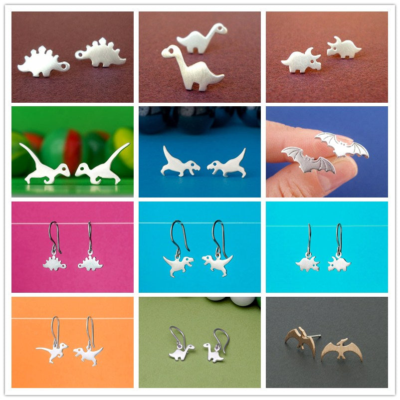 Variety Dinosaur Stud Earrings Tiny Earrings - DinoGoods