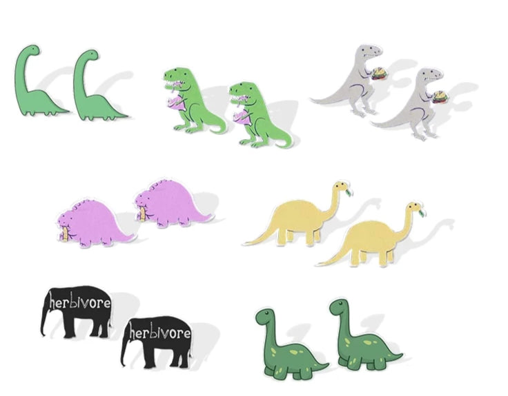 Herbivore Dinosaur Stud Earrings - DinoGoods