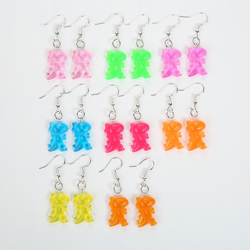 Jurassic Colorful Dinosaur Earrings - DinoGoods