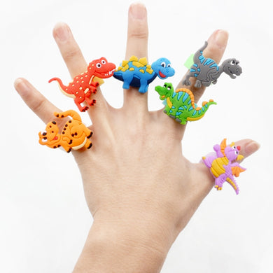Kids Jurassic Dinosaur Cartoon Rings