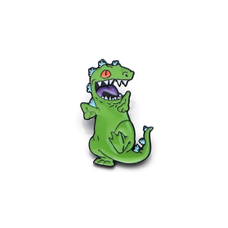 Dancing Dinosaur Cartoon Pin Brooch - DinoGoods