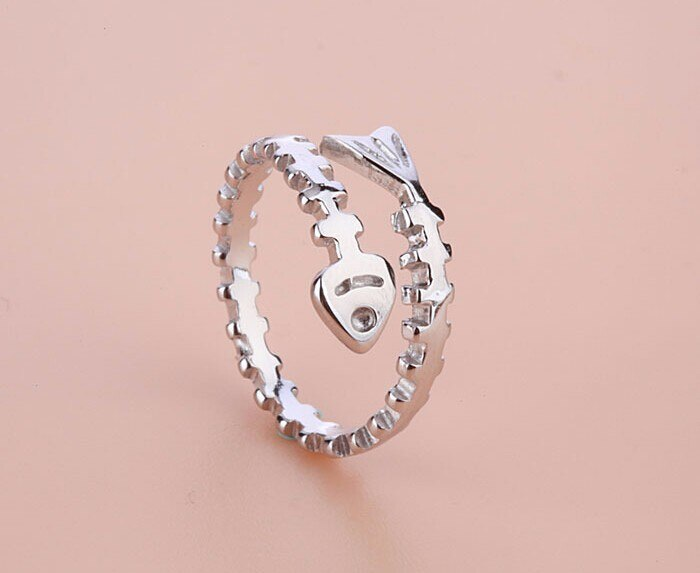 Sterling Silver Fish Bone Ring - DinoGoods