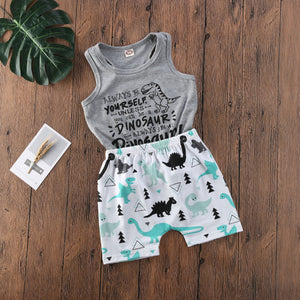 Always Be A Dinosaur Toddler's Tank and Shorts Set - DinoGoods