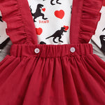 Lovely Dinosaur Heart Pinafore Dress - DinoGoods