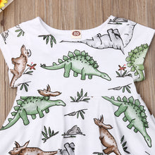 Gentle Dinosaur Toddler Dress