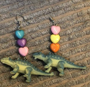 Colorful Dinosaur Drop Earrings
