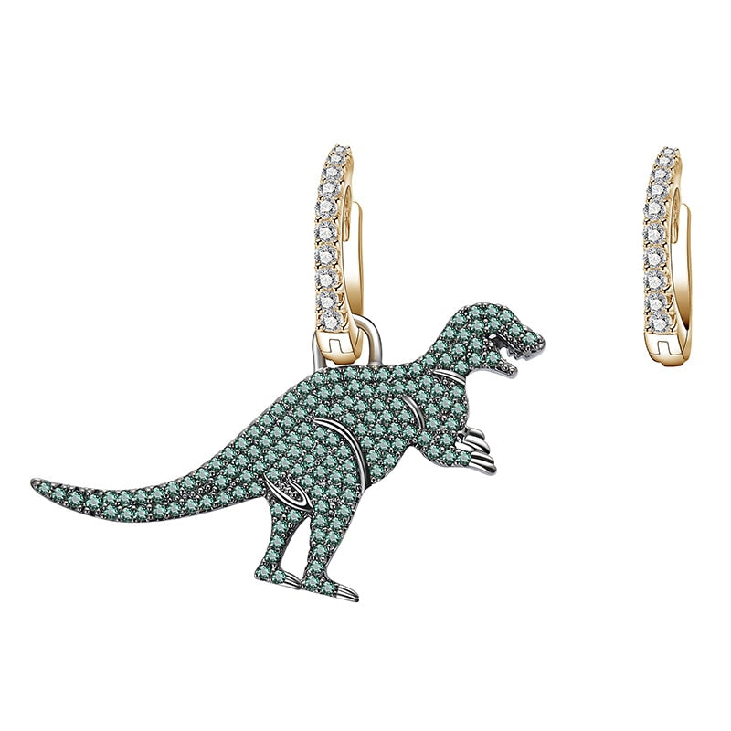Sparkly Dinosaur T-Rex Earrings - DinoGoods
