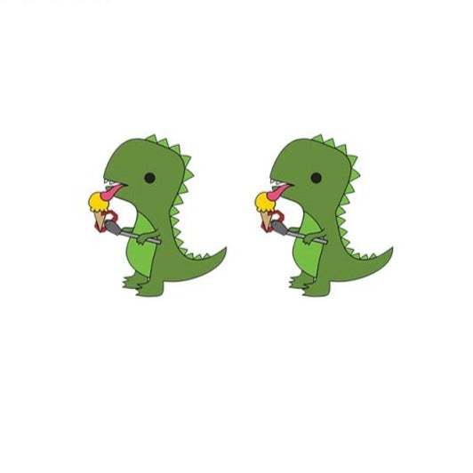 Cute Baby Dinosaur Earrings