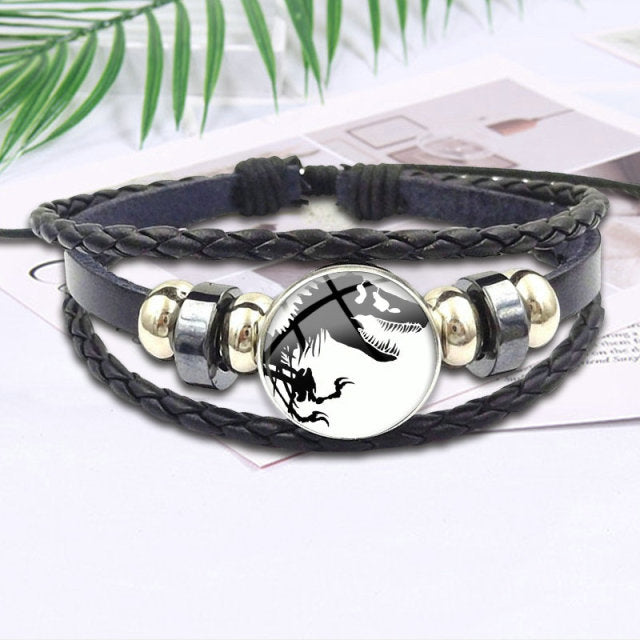 Dinosaur Leather Bracelet - DinoGoods