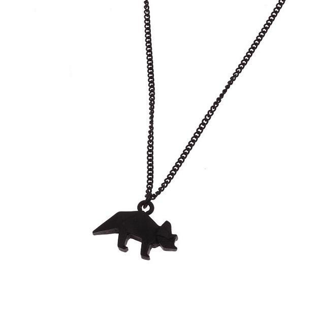 Triceratops Origami Necklace - Dinosaur Themed Gifts & Accessories