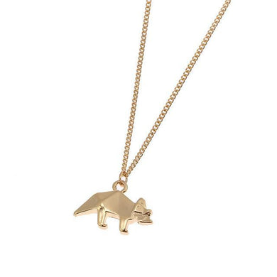 Triceratops Origami Necklace - Dinosaur Gifts & Accessories