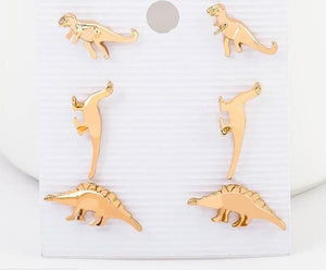 Dinosaur Stud Earrings Variety Pack - Dinosaur Themed Gifts & Accessories