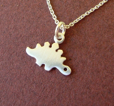 Stegosaurus Pendant Necklace - Dinosaur Gifts & Accessories