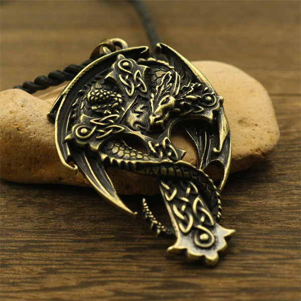 Dragon Cross Pendant - Dinosaur Themed Gifts & Accessories
