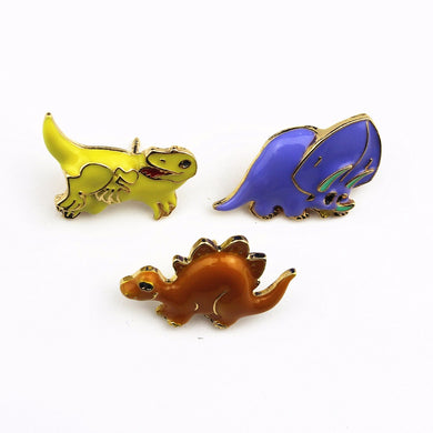 Happy Variety Dinosaur Brooches - Dinosaur Themed Gifts & Accessories