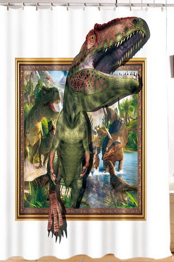 Raptor Dinosaur Shower Curtain - Dinosaur Themed Gifts & Accessories