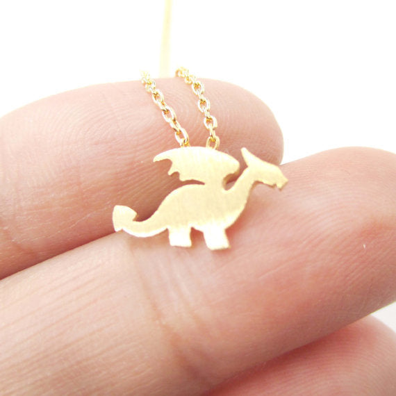 Charming Dragon Necklace - Dinosaur Gifts & Accessories