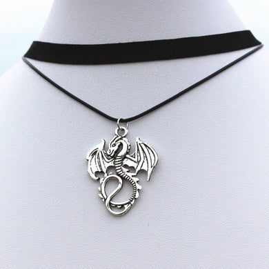 Dragon Necklace Choker - Dinosaur Themed Gifts & Accessories